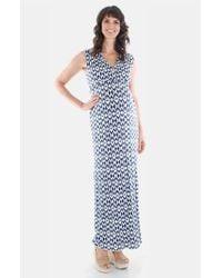 Everly Grey - Blue 'jill' Maternity Maxi Dress - Lyst
