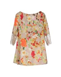 Scee By Twin-set - Natural Blouse - Lyst