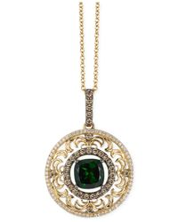 Le Vian - Metallic Chrome Diopside (2 Ct. T.w.) And Diamond (3/4 Ct. T.w.) Pendant Necklace In 14k Gold - Lyst