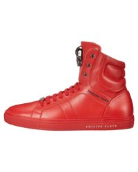 Philipp Plein | Red Signed High Sneaker for Men | Lyst