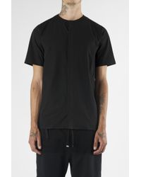 Blood Brother | Auto Black Short Sleeve Collarless Shirt for Men | Lyst