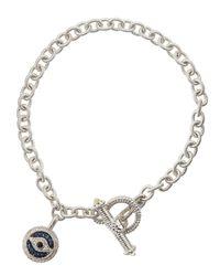 Judith Ripka | Blue Pav Sapphire Evil Eye Charm Bracelet | Lyst