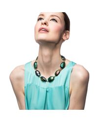 Lulu Frost - Blue Scarab Procession Necklace - Lyst