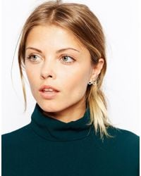 ASOS - Metallic Infinity Swing Earrings - Lyst
