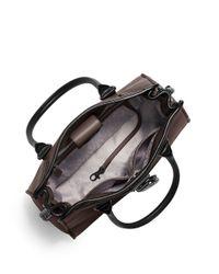MICHAEL Michael Kors | Black Hamilton Leather Satchel | Lyst