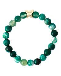 Fefe | Green Stone Bead Bracelet for Men | Lyst