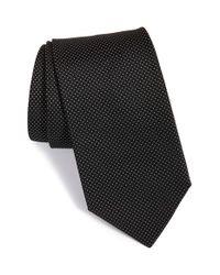 BOSS - Black Small Dot Silk Tie for Men - Lyst
