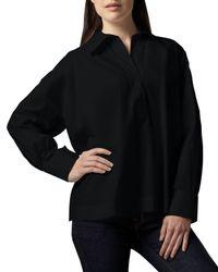 Go> By Go Silk - Black Oversize Stretch Shirt - Lyst