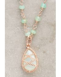 Anthropologie - Blue Arethusa Necklace - Lyst