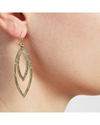 John Lewis | Metallic Leaf Shape Drop Earrings | Lyst