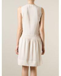 Vanessa Bruno   Natural V-Neck Flared Dress   Lyst