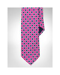 Polo Ralph Lauren - Pink Silk Foulard Narrow Tie for Men - Lyst
