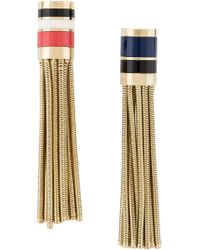 Lanvin | Metallic Striped Clip-on Earrings | Lyst