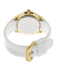 Elini Barokas - Metallic Artisan White Silicone And Dial Gold-tone Ss - Lyst