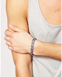 ASOS | Rope Bracelet In Blue for Men | Lyst