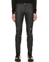 Versus - Blue Indigo Skinny Zipper Jeans for Men - Lyst