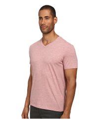Vince | Pink Short Sleeve Pima Cotton V-neck Tee for Men | Lyst
