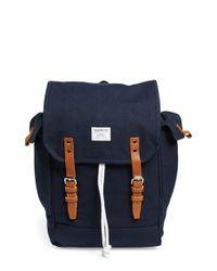 Sandqvist - Blue 'bob' Canvas Backpack for Men - Lyst