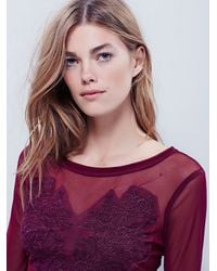 Free People | Purple Fp X Womens Fp X Lover's Lace Applique Top | Lyst