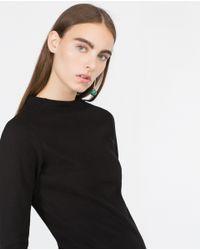 Zara | Black Knit Dress | Lyst