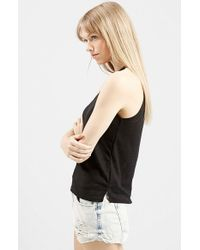TOPSHOP | Black '70s High Neck Tank | Lyst