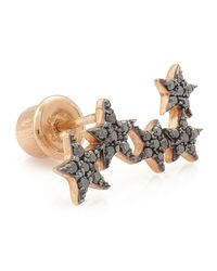 Kismet by Milka | Metallic Wonder Woman 5-star Black Diamond Ear Crawler | Lyst