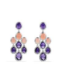 David Yurman | Metallic Chandelier Earrings with Amethyst and Guava Quartz | Lyst