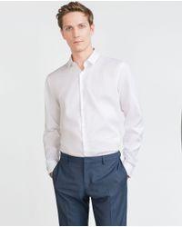 Zara | White Basic Oxford Shirt for Men | Lyst