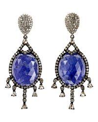 Carole Shashona - Blue Bleu Royalty Earrings - Lyst