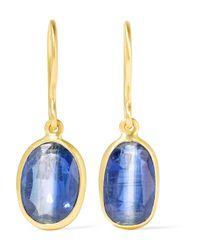 Pippa Small - Metallic 18-karat Gold Kyanite Earrings - Lyst