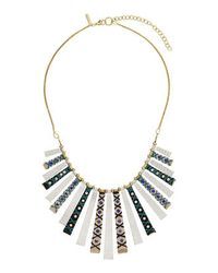 TOPSHOP - Blue Wrap Stick Necklace - Lyst