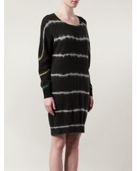 Raquel Allegra | Black Tie Dye Knit Dress | Lyst