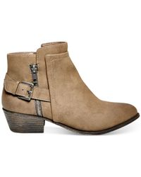 Madden Girl | Brown Hunttz Ankle Booties | Lyst