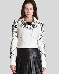 BCBGMAXAZRIA - White Bcbg Max Azria Jacket Kade Embroidered - Lyst