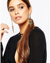 ASOS | Black Occasion Drop Earrings | Lyst