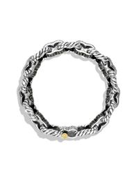 David Yurman - Pavé Carter Chain Bracelet with Black Diamonds and Gold for Men - Lyst