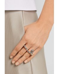 Jennifer Fisher - Metallic Double Finger Loop Silver-plated Ring - Lyst