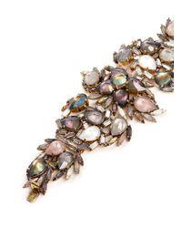 Erickson Beamon | Multicolor ''sound Garden' Crystal Cluster Leaf Bracelet | Lyst