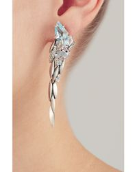Alexis Bittar - Blue Cool Heather Marquis Cascade Post Earrings - Silver - Lyst