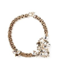 DSquared² | Metallic Embellished Chain Bracelet | Lyst