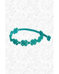 Cruciani | Multicolor Four Leaf Clover Macrame Bracelet - Kelly Green | Lyst