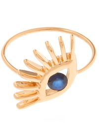 Kismet by Milka | Metallic Gold Evil Eye Big Ring | Lyst