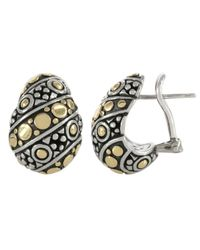John Hardy - Metallic Jais Buddha Belly Twist Earrings - Lyst