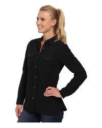 Woolrich | Black Heather Chamois Shirt | Lyst