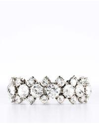 Ann Taylor - Metallic Crystal Stretch Bracelet - Lyst