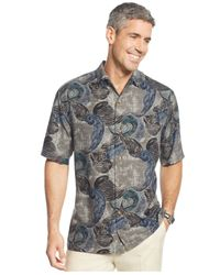 Tommy Bahama | Black Wave-print Short-sleeve Shirt for Men | Lyst