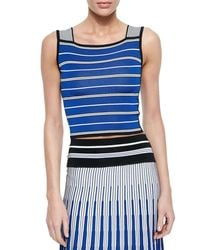 Ohne Titel - Multicolor Striped Crop Top - Lyst
