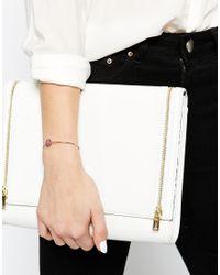 Ted Baker | Pink Teya Enamel Button Cuff Bracelet | Lyst