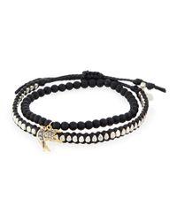 Tai - Black Set Of Two Bracelets - Lyst