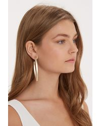 Oasis | Metallic Metal Oval Hoop Earrings | Lyst